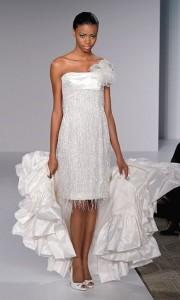 Короткое свадебное платье длиной до колен