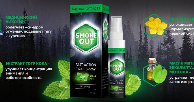 Бросаем курить со спреем Smoke Out